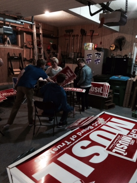 Yard sign construction party tonight!!